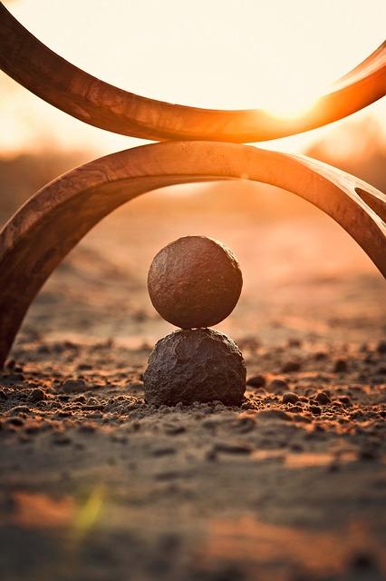 Montage de pierres zen.
